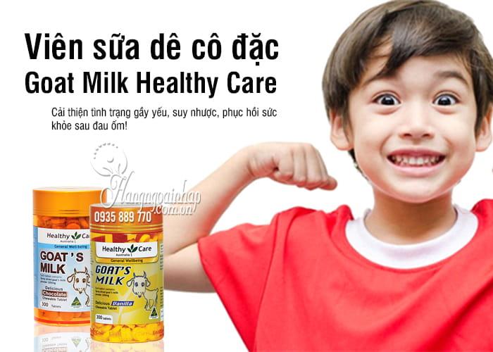 Viên sữa dê cô đặc Goat Milk Healthy Care 300 viên của Úc 1