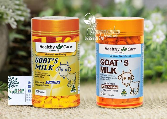 Viên sữa dê cô đặc Goat Milk Healthy Care 300 viên của Úc 5
