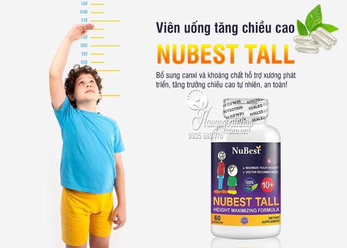 Viên uống tăng chiều cao Nubest Tall 60 viên cho bé từ 10 tuổi 1