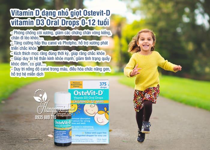 Vitamin D dạng nhỏ giọt Ostevit-D vitamin D3 Oral Drops 0-12 tuổi 3