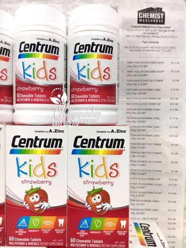 Vitamin tổng hợp cho trẻ em Centrum Kids Strawberry 60 viên 1