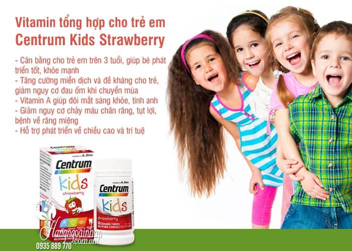 Vitamin tổng hợp cho trẻ em Centrum Kids Strawberry 60 viên 7