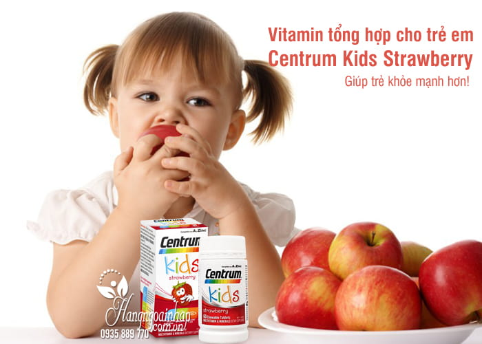 Vitamin tổng hợp cho trẻ em Centrum Kids Strawberry 60 viên 9