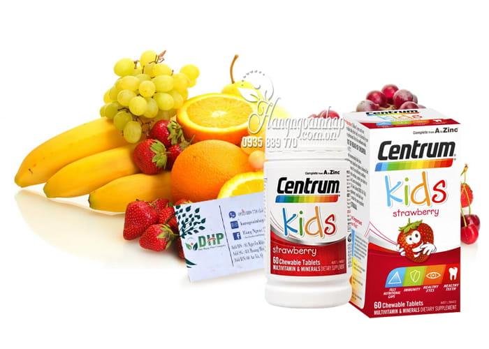 Vitamin tổng hợp cho trẻ em Centrum Kids Strawberry 60 viên 2