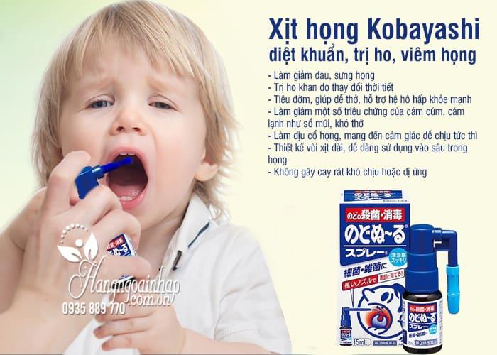 Xịt họng Kobayashi 15ml diệt khuẩn, trị ho, viêm họng 2