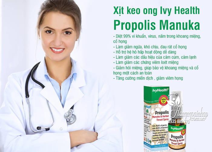 Xịt keo ong Ivy Health Propolis Manuka 25ml của Úc 2