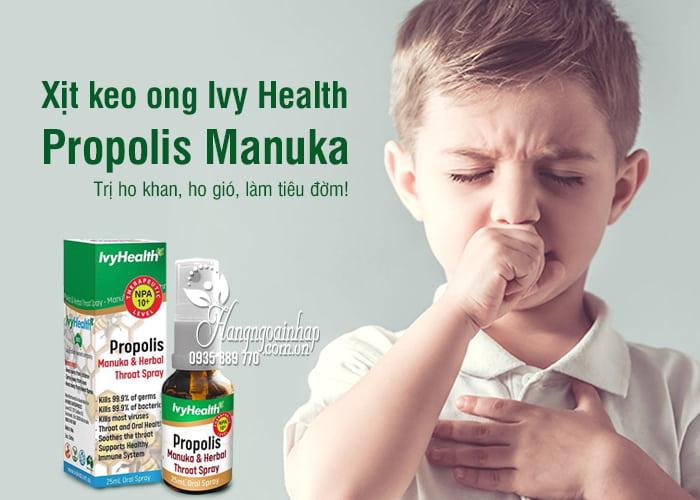 Xịt keo ong Ivy Health Propolis Manuka 25ml của Úc 1