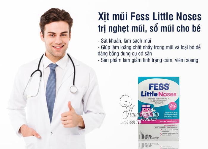 Xịt mũi Fess Little Noses 15ml trị nghẹt mũi, sổ mũi cho bé từ 0-2 tuổi 21