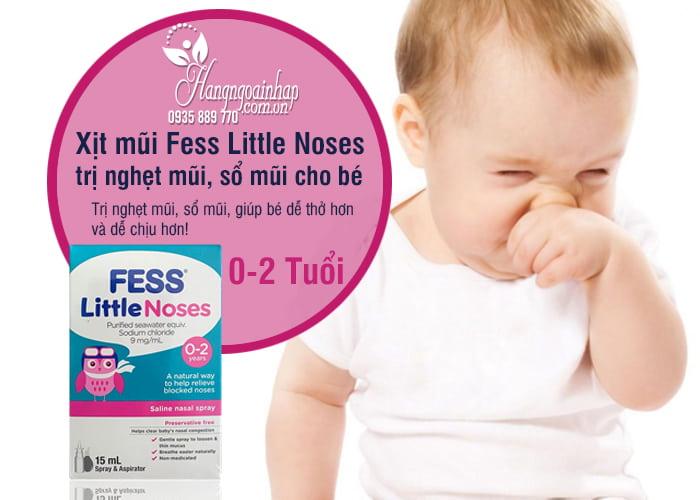 Xịt mũi Fess Little Noses 15ml trị nghẹt mũi, sổ mũi cho bé từ 0-2 tuổi 1