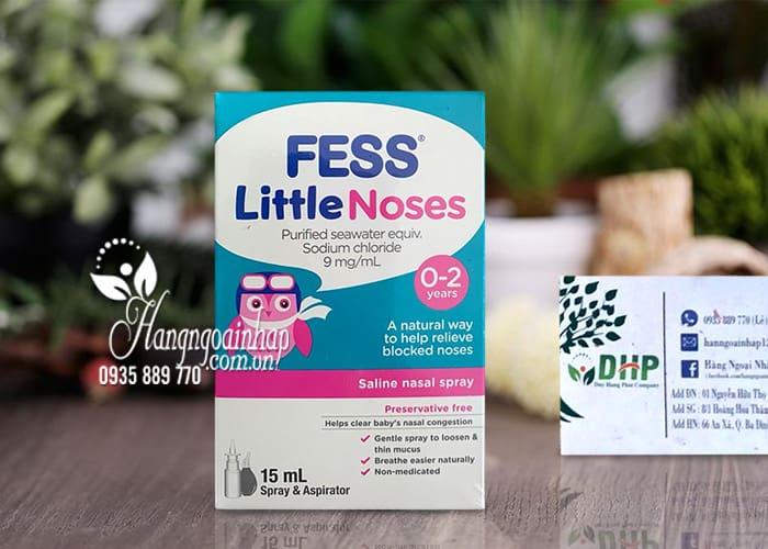 Xịt mũi Fess Little Noses 15ml trị nghẹt mũi, sổ mũi cho bé từ 0-2 tuổi 6