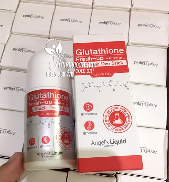 Lăn khử mùi Glutathione Fresh Up Whitening Angel's Liquid 9