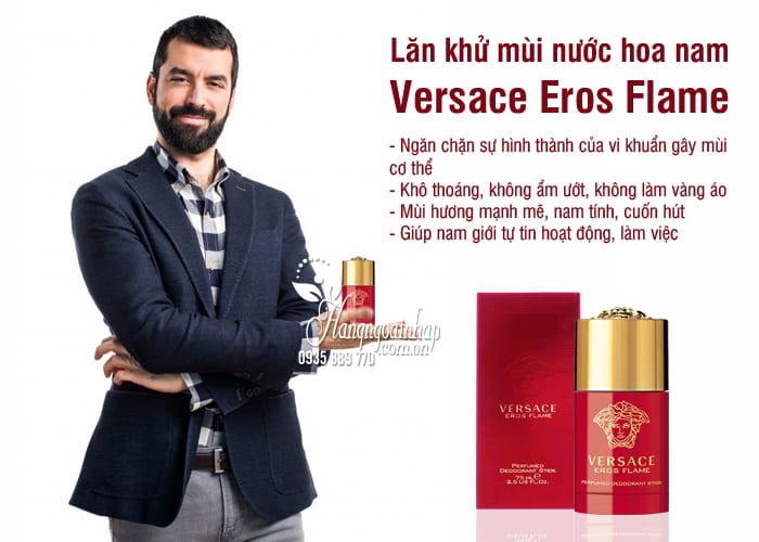 Lăn khử mùi nước hoa nam Versace Eros Flame 75ml màu đỏ 2