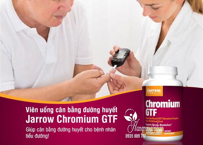 Viên uống cân bằng đường huyết Jarrow Chromium GTF 200mcg 1