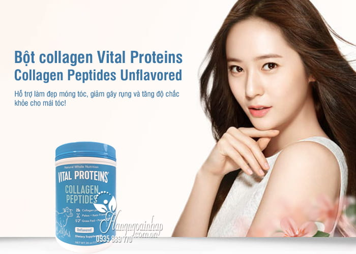 Bột collagen Vital Proteins Collagen Peptides Unflavored của Mỹ 9