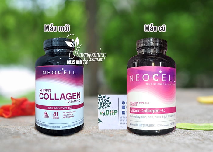 Collagen + C 250 Viên Type I & III Mỹ - Super Collagen Neocell 1