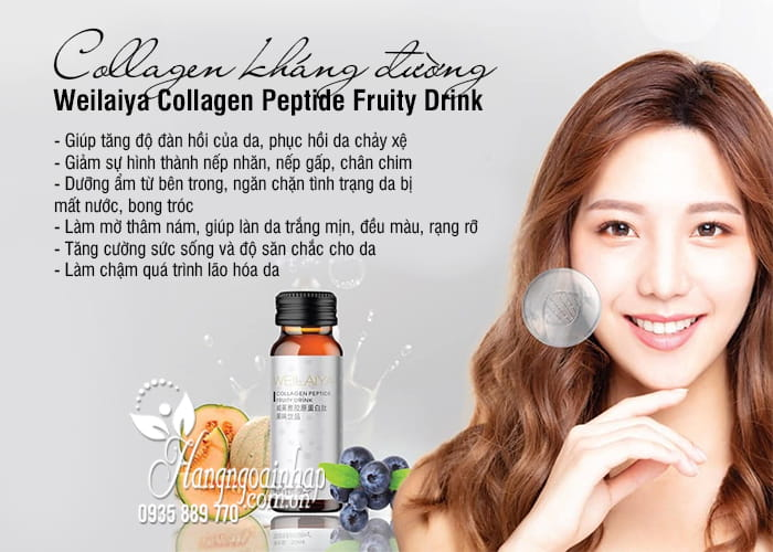 Collagen kháng đường Weilaiya Collagen Peptide Fruity Drink 2