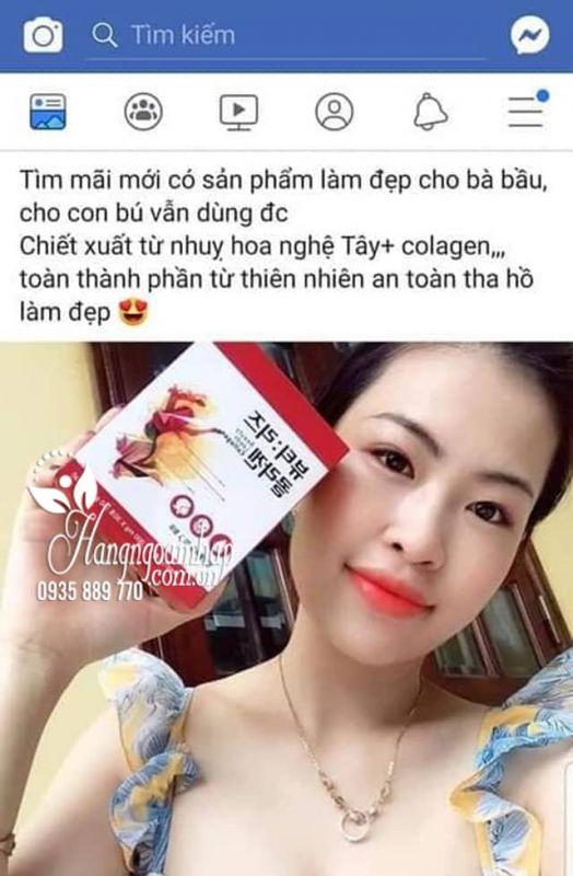 Collagen nhụy hoa nghệ tây Beauty Leeds Collagen Hàn Quốc 4