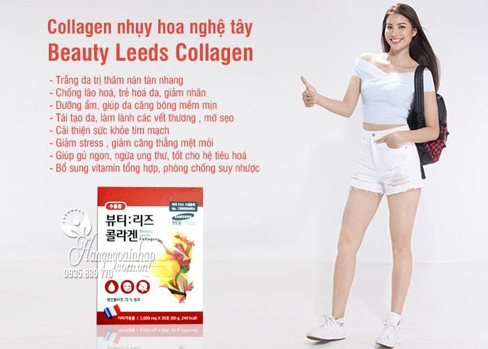 Collagen nhụy hoa nghệ tây Beauty Leeds Collagen 30 gói Hàn Quốc 9