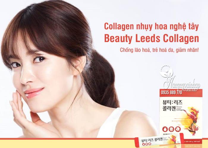 Collagen nhụy hoa nghệ tây Beauty Leeds Collagen Hàn Quốc 1