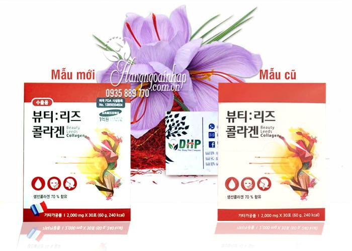 Collagen nhụy hoa nghệ tây Beauty Leeds Collagen 30 gói Hàn Quốc 1