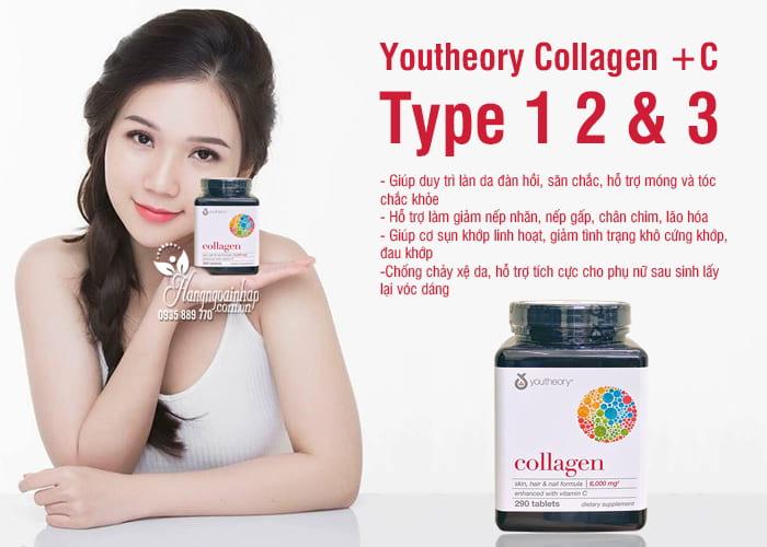 """Collagen youtheory type 1 2 & 3 290 viên """"chính hãng"""" của Mỹ 8"""