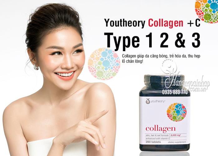"""Collagen youtheory type 1 2 & 3 290 viên """"chính hãng"""" của Mỹ 2"""