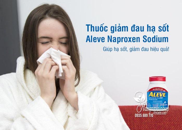Thuốc giảm đau hạ sốt Aleve Naproxen Sodium 220mg Mỹ 2