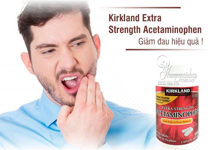 Thuốc giảm đau Kirkland Extra Strength Acetaminophen 500mg 4