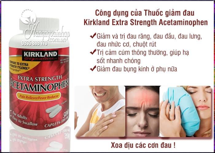 Thuốc giảm đau Kirkland Extra Strength Acetaminophen 500mg 3