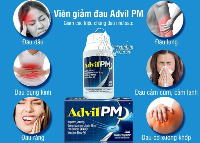 Viên giảm đau Advil PM 200mg 200 viên của Mỹ dùng ban đêm 3