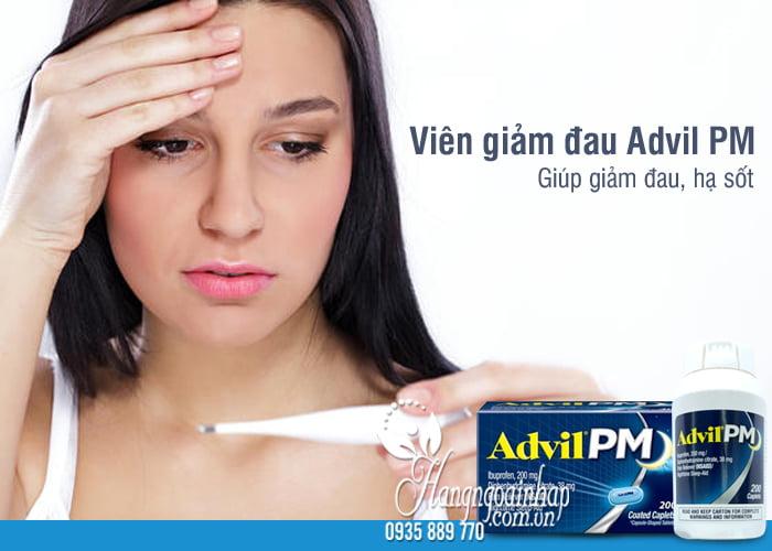 Viên giảm đau Advil PM 200mg 200 viên của Mỹ dùng ban đêm 9