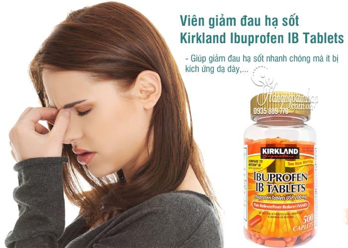 Viên giảm đau hạ sốt Kirkland Ibuprofen IB Tablets 500 viên 5