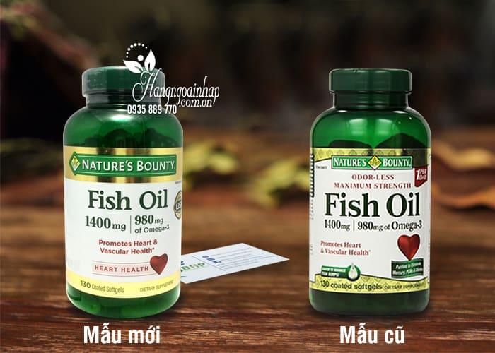 Dầu cá Natures Bounty Fish Oil 1400mg của Mỹ 12