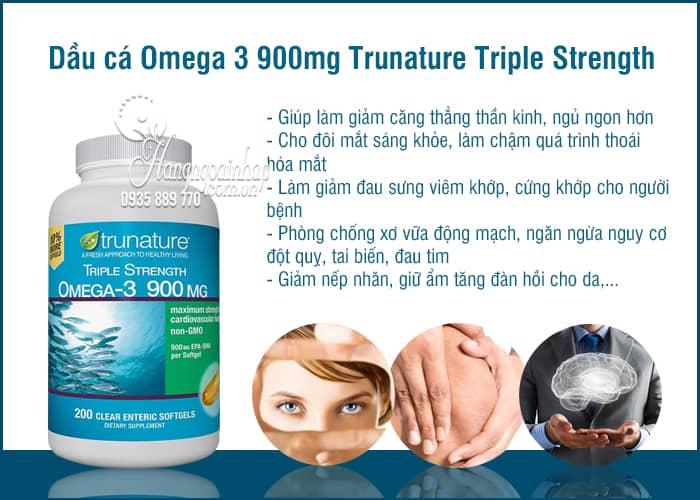 Dầu cá Omega 3 900mg Trunature Triple Strength 200 viên của Mỹ 4