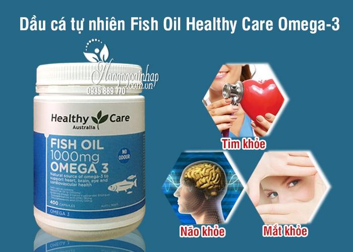 Dầu cá tự nhiên Fish Oil Healthy Care Omega-3 1000mg 400 viên của Úc 8
