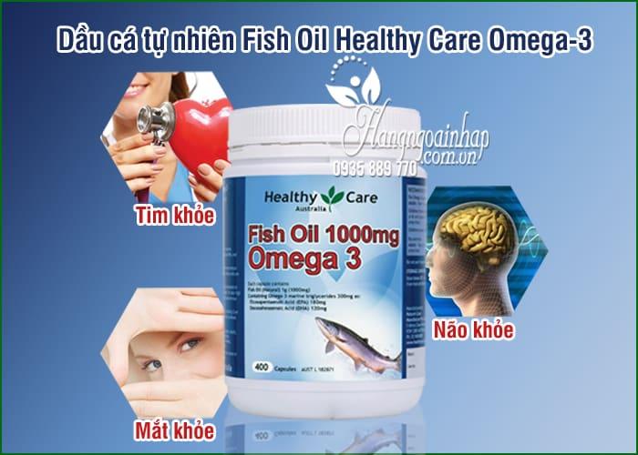 Dầu cá tự nhiên Fish Oil Healthy Care Omega-3 1000mg 400 viên của Úc 1