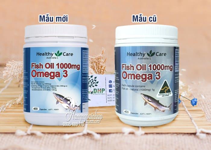 Dầu cá tự nhiên Fish Oil Healthy Care Omega-3 1000mg 400 viên của Úc 3