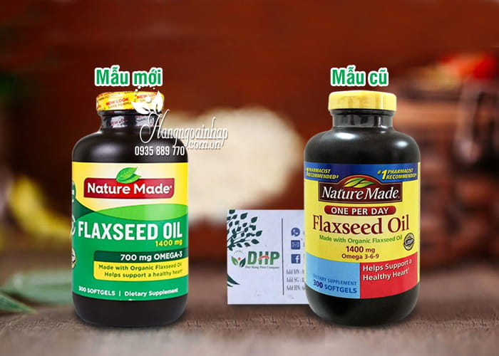 Dầu hạt lanh Omega 3 6 9 Flaxseed Oil Nature Made 1400mg Của Mỹ 1
