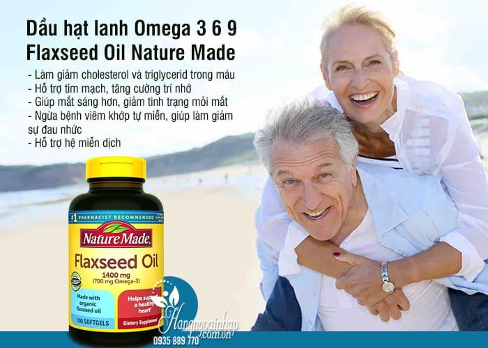 Dầu hạt lanh Omega 3 6 9 Flaxseed Oil Nature Made 1400mg mẫu mới 77