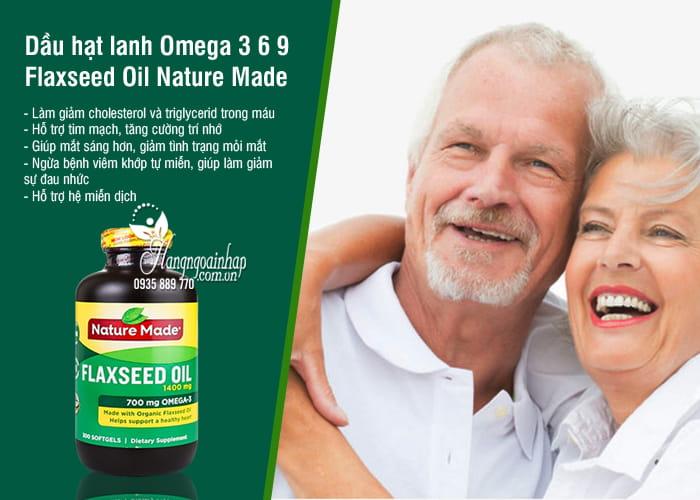 Dầu hạt lanh Omega 3 6 9 Flaxseed Oil Nature Made 1400mg Của Mỹ 6