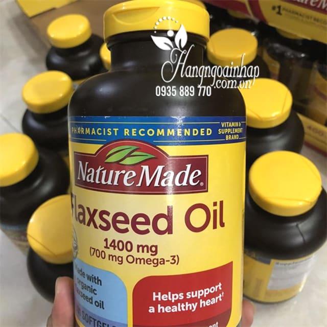 Dầu hạt lanh Omega 3 6 9 Flaxseed Oil Nature Made 1400mg mẫu mới 99