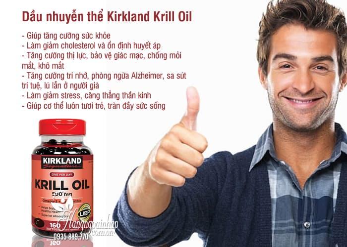 Dầu nhuyễn thể Kirkland Krill Oil 500mg 160 viên của Mỹ 4