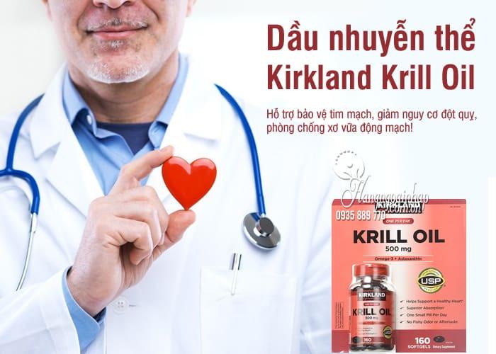 Dầu nhuyễn thể Kirkland Krill Oil 500mg 160 viên của Mỹ 7