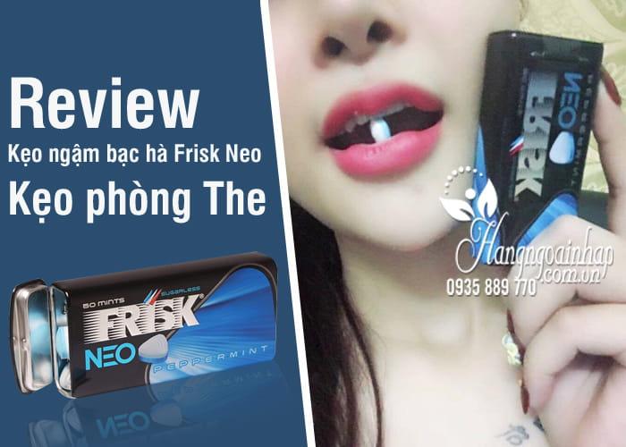 Kẹo ngậm bạc hà Frisk Neo Nhật Bản Hộp 50 viên, kẹo phòng the 5
