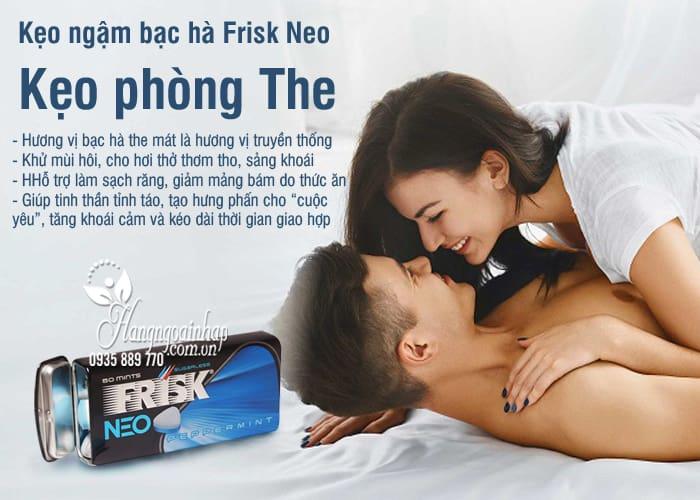 Kẹo ngậm bạc hà Frisk Neo Nhật Bản Hộp 50 viên, kẹo phòng the 9