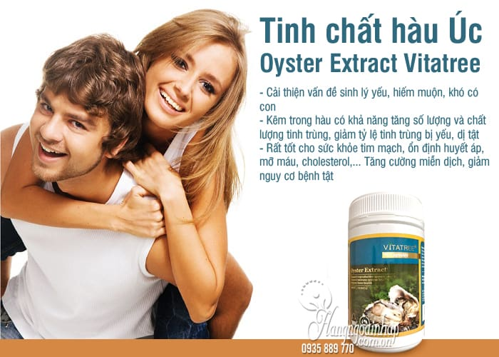 Tinh chất hàu Úc Oyster Extract Vitatree hộp 90 viên 2