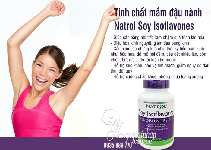 Tinh chất mầm đậu nành Natrol Soy Isoflavones 50mg 120 viên 4