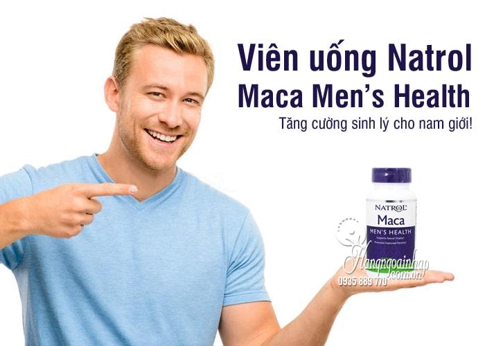 Viên uống Natrol Maca Men's Health 500mg 60 viên Mỹ 2