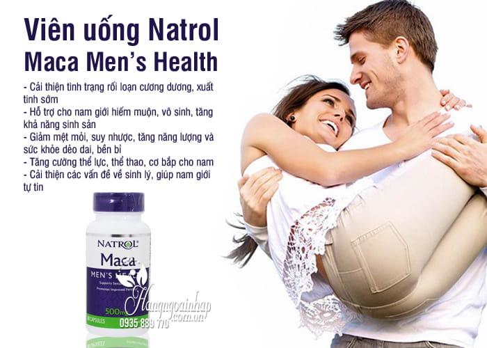 Viên uống Natrol Maca Men's Health 500mg 60 viên Mỹ 3