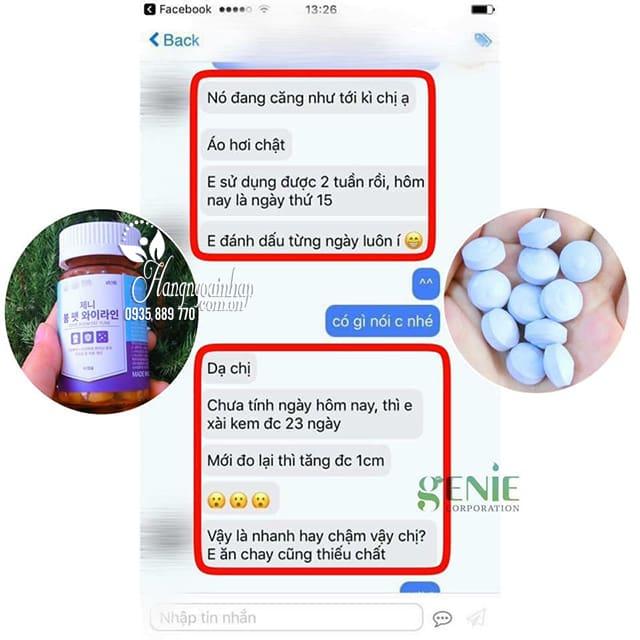 Viên uống nở ngực Genie Boom Fat Yline 60 viên Hàn Quốc 1